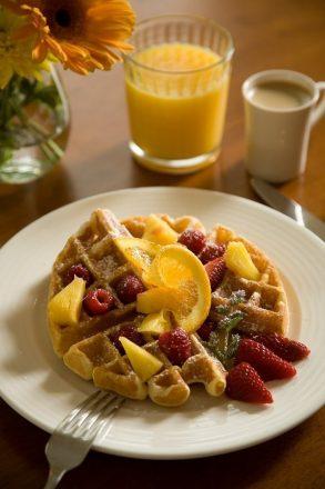 Belgian Waffle with Fruit
