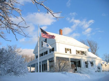 Liberty Hill Inn in the snow