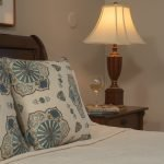Carriage House Room Hallett accent pilows and nightstand