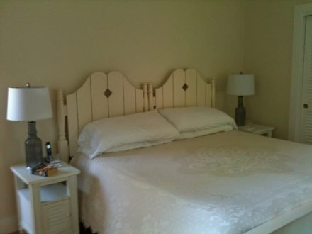 Cottage bed and nightstands