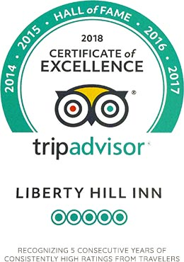 TripAdvisor Hall of Fame recipient for consistently high ratings for the last 5 years